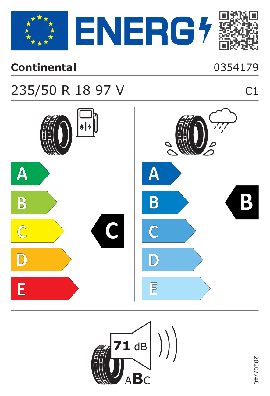 Neues Reifen-Label